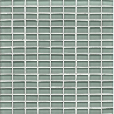 Hamptons 0.63 x 1.19 Glass Mosaic Tile in Blue