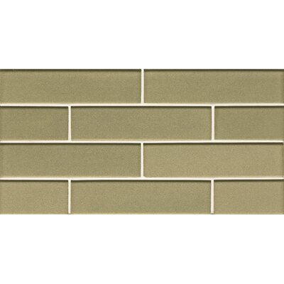 Remy Glass 2 x 7.88 Glass Mosaic Tile in Meadow
