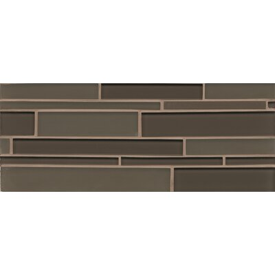 Harbor Glass 6.3 x 16 Mosaic Mini Brick Gloss Tile in Mountain