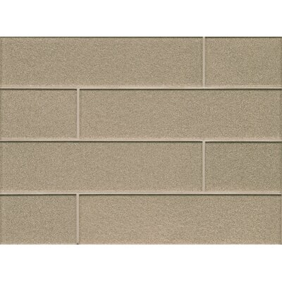Remy Glass 4 x 16 Mosaic Field Tile Matte in Frost