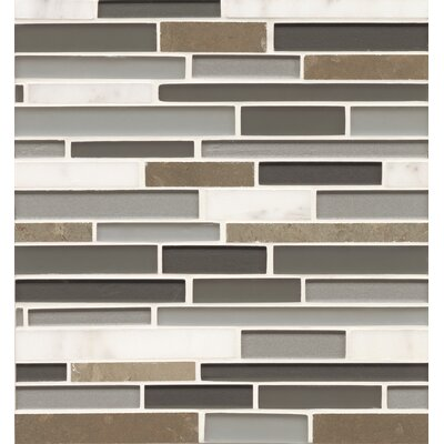 Remy Glass 12 x 13 Stone/Glass Blends Mosaic Random Interlocking in Angeles