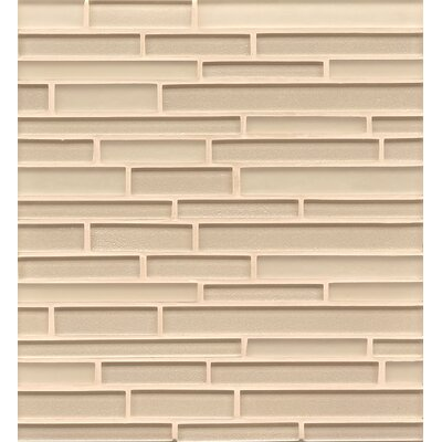 Remy Glass Mosaic Random Interlocking Tile in Blonde