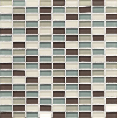 Hamptons 0.63 x 1.19 Glass Mosaic Tile in Multi