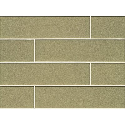 Manhattan 4 x 16 Glass Field Tile in Glossy Pistachio