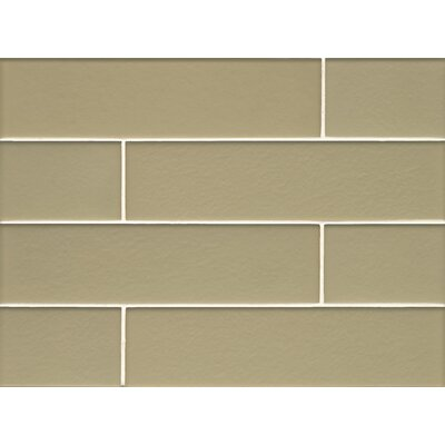 Manhattan 4 x 16 Glass Field Tile in Matte Pistachio