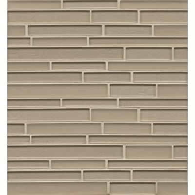 Remy Glass 12 x 13 Mosaic Random Interlocking Tile in Frost