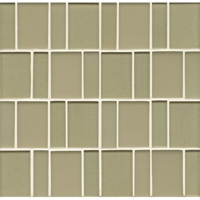 Manhattan Random Sized Glass Mosaic Tile in Pistachio