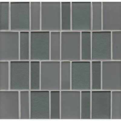 Remy Glass Mosaic Brick in Black