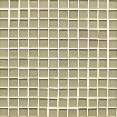Manhattan 0.94 x 0.94 Glass Mosaic Tile in Pistachio