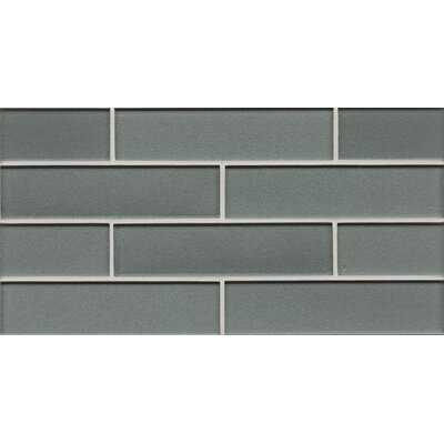 Manhattan 2 x 7.88 Glass Mosaic Tile in Glossy Subway