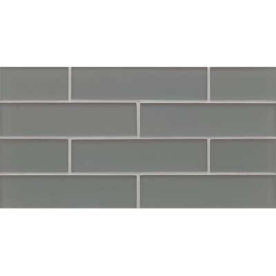 Remy Glass Mosaic Matte Mesh Tile in Jet