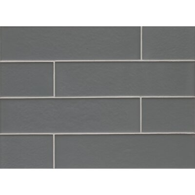 Remy Glass Field Tile Matte in Jet