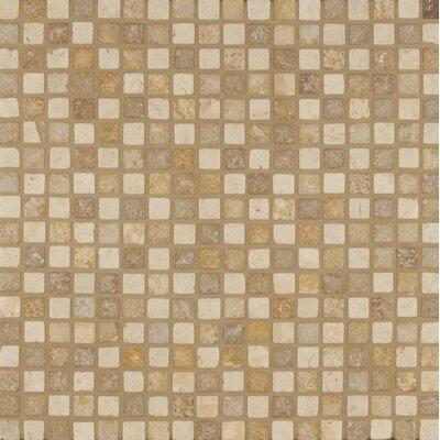 0.68 x 0.68 Travertine Mosaic Tile in Beige