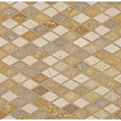 1 x 1.75 Travertine Mosaic Tile in Beige