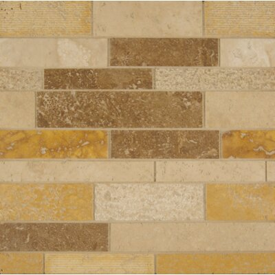 Random Sized Travertine Mosaic Tile in Matte Mosaic Blend