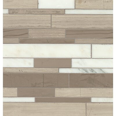 Maison Random Sized Marble Mosaic Tile in Penthouse Linear