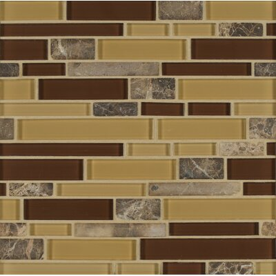 Tiffany Random Sized Glass MosaicTile in Brown/Tan