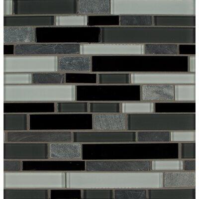 Tiffany Random Sized Glass MosaicTile in Gray