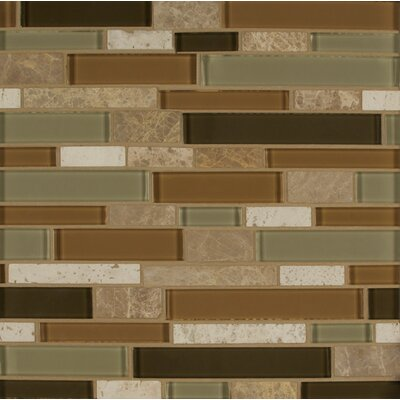 Tiffany Random Sized Glass MosaicTile in Brown