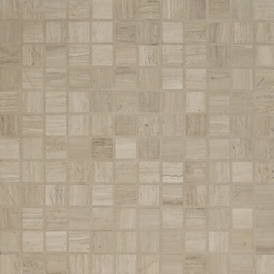 Maison 1 x 1 Marble Mosaic Tile in Grey