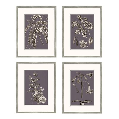 Buchoz Flowers on Amethyst I Wall Art Collection