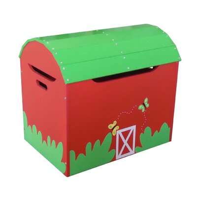 farm furniture - red barn toy box