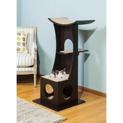 46.5 Simba Cat Condo Color: Dark Espresso