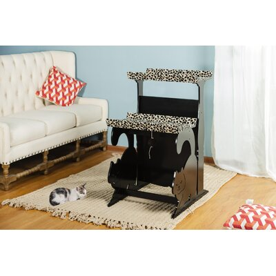 39.75 Keasler Double Rest Cat Tree Color: Black