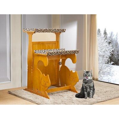 39.75 Keasler Double Rest Cat Tree Color: Golden Oak