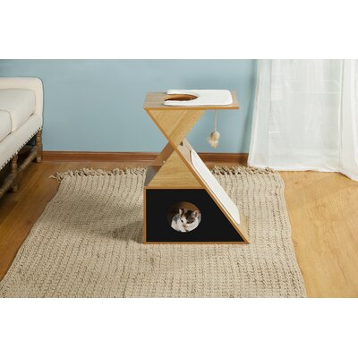 27 Kelsey Tri Cat Condo Color: Natural Black
