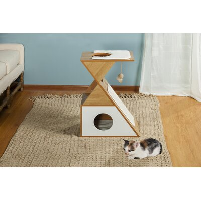 27 Kelsey Tri Cat Condo Color: Natural White