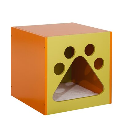 Shadow Cat House Color: Mellow Green/Apricot Tan