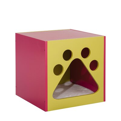 Shadow Cat House Color: Mellow Green/Fuchsia