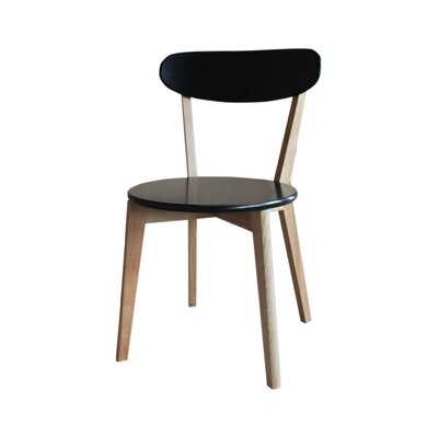 Vista Solid Wood Dining Chair Finish: Black