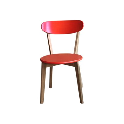 Vista Solid Wood Dining Chair Finish: Orange