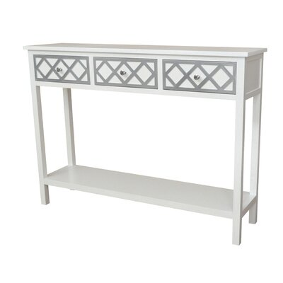 Trellis Console Table Finish: Cream