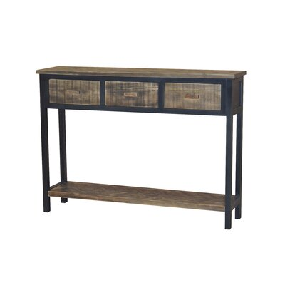 Wovenwood Console Table Finish: Black / Gray