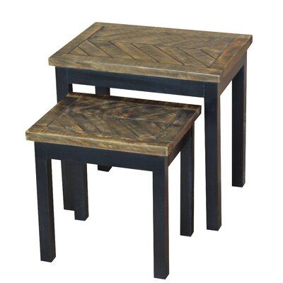 Wovenwood 2 Piece Nesting Tables Finish: Black / Gray