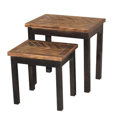 Wovenwood 2 Piece Nesting Tables Finish: Espresso / Brown