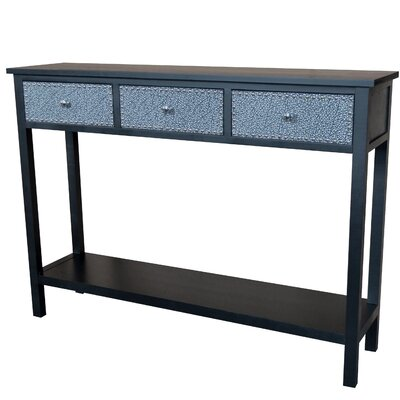Ritz Console Table Finish: Black / Silver