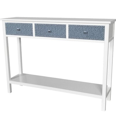 Ritz Console Table Finish: Cream / Silver