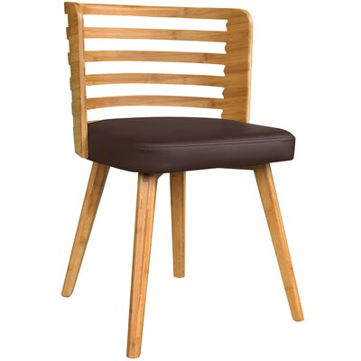 Westhoff Bamboo Upholstered Dining Chair Upholstery Color: Brown