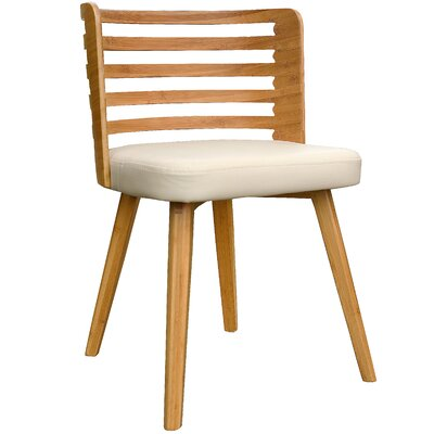 Westhoff Bamboo Upholstered Dining Chair Upholstery Color: Beige
