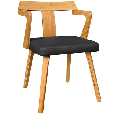 Westervelt Bamboo Upholstered Dining Chair Upholstery Color: Black