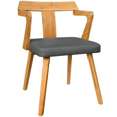 Westervelt Bamboo Upholstered Dining Chair Upholstery Color: Charcoal