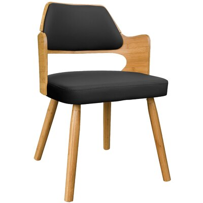 Westley Bamboo Upholstered Dining Chair Upholstery Color: Black