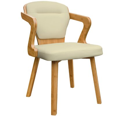 Westphal Bamboo Upholstered Dining Chair Upholstery Color: Beige