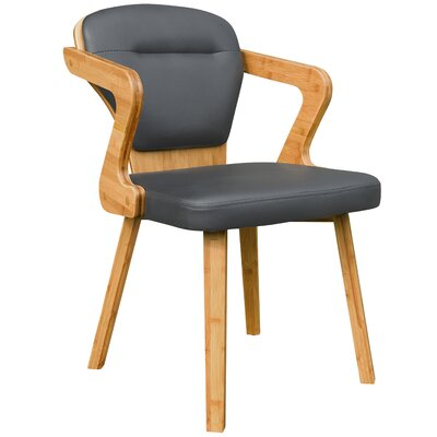 Westphal Bamboo Upholstered Dining Chair Upholstery Color: Charcoal