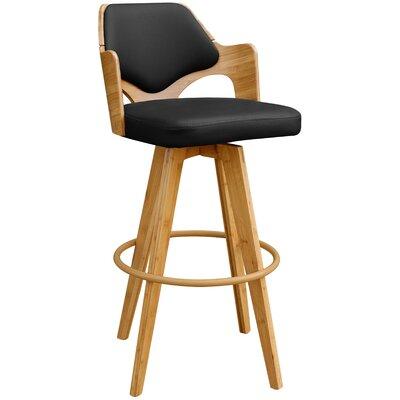 Westman 39.5 Swivel Bar Stool Upholstery: Black
