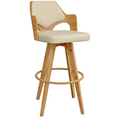 Westman 39.5 Swivel Bar Stool Upholstery: Beige